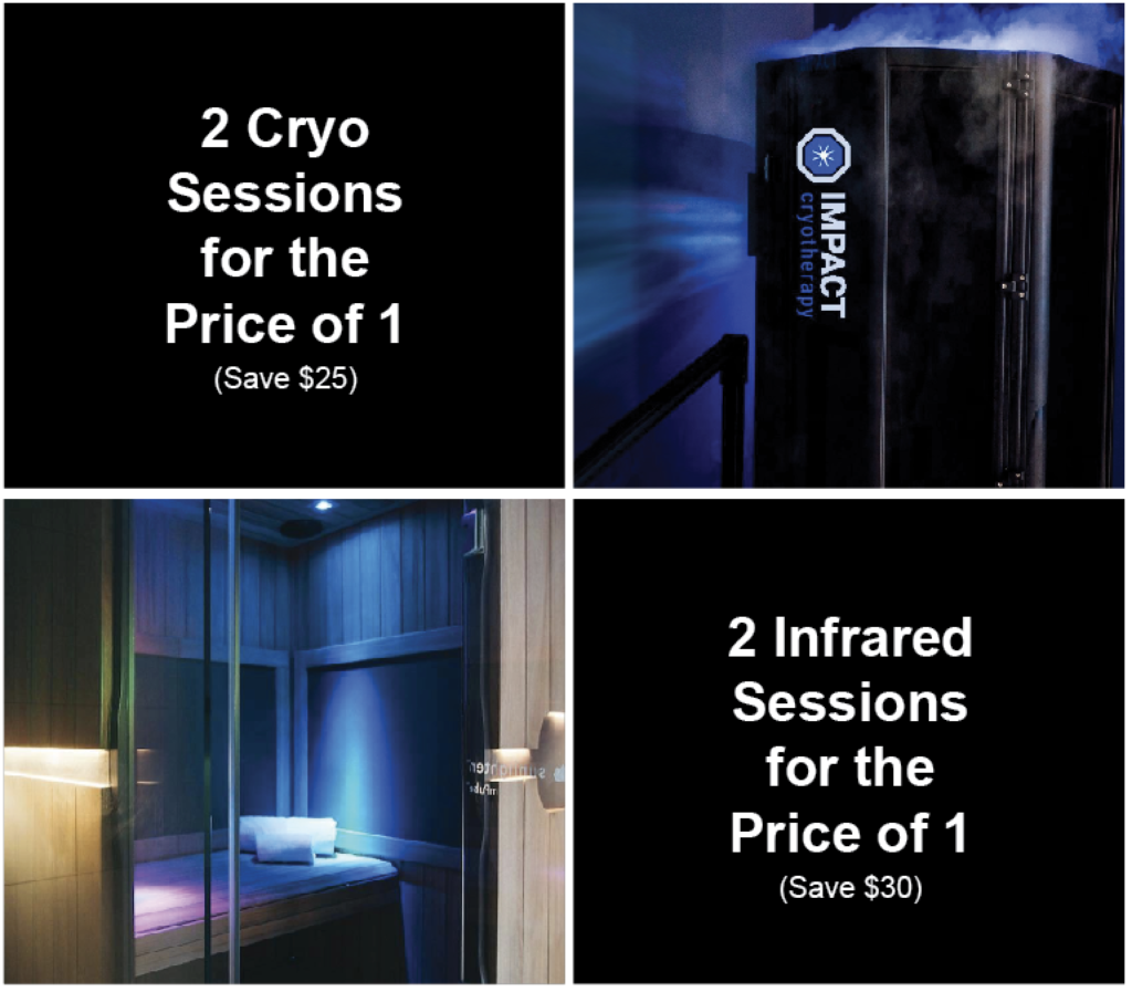 cryotherapy, infrared therapy